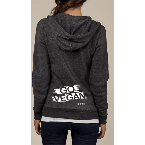 FTLA Apparel FTLA Apparel Unisex Eco Fleece Full-Zip Hoodie Eco Black – GO VEGAN-Unisex Sweatshirts-FTLA Apparel-XS-For The Love of Animals Apparel