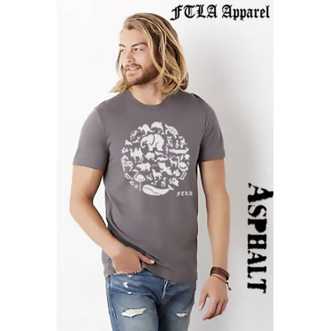 FTLA Apparel FTLA Apparel Unisex Jersey Short Sleeve Tee Co-Exist | End Captivity- XS-4XL-Unisex T-Shirt-FTLA Apparel-XS-Ashphalt-For The Love of Animals Apparel