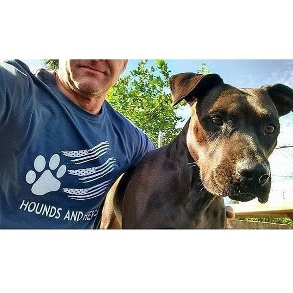 FTLA Apparel ~ For The Love of Animals Apparel:  Unisex - FTLA Apparel Unisex Navy Long Sleeve Jersey Tee | Hounds and Heroes - SM - 2XL