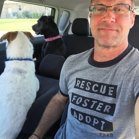 FTLA Apparel FTLA Apparel Unisex Tri-blend Ringer Tee Eco Friendly Made in the USA - Rescue Foster Adopt-Unisex T-Shirt-FTLA Apparel-X-SMALL-Tri Vintage Grey/Tri Onyx-For The Love of Animals Apparel