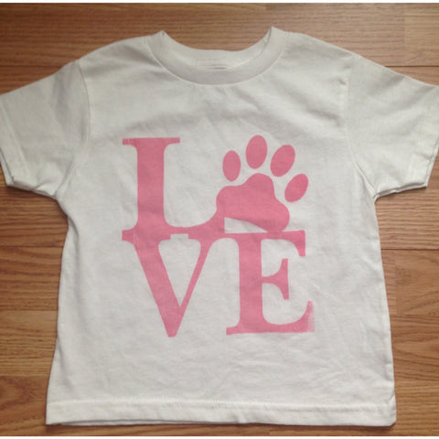 FTLA Apparel FTLA - Toddler Short Sleeve T-Shirt - Love-Toddler Tee-FTLA Apparel-White-2T-For The Love of Animals Apparel