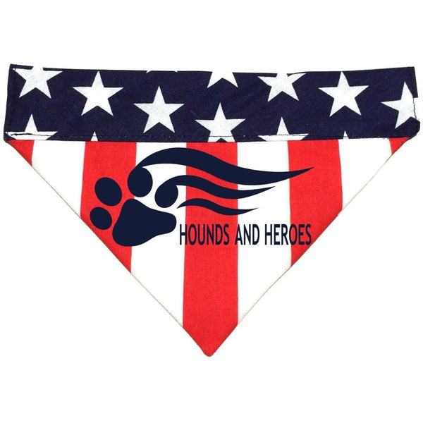 FTLA Apparel Hounds and Heroes American Flag Doggy Bandanas-Doggy Bandana-FTLA Apparel-Small-For The Love of Animals Apparel