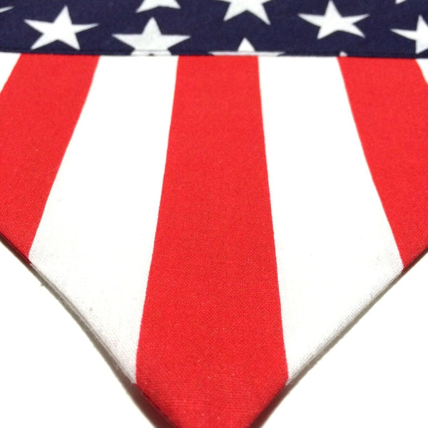 FTLA Apparel - Hounds and Heroes American Flag Doggy Bandanas-Doggy Bandana-For The Love of Animals Apparel
