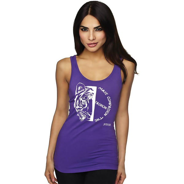 FTLA Apparel ~ For The Love of Animals Apparel:  Tank Top - Ladies Jersey Tank Top - Make Compassion The Fashion!