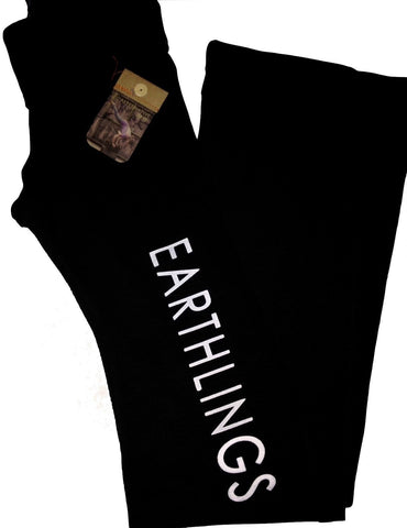 FTLA Apparel Limited Edition Black Yoga Pants - EARTHLINGS-Yoga Pants-FTLA Apparel-For The Love of Animals Apparel
