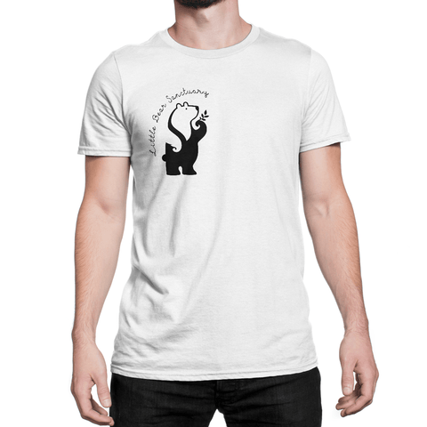FTLA Apparel Little Bear Sanctuary Unisex Jersey Short Sleeve Tee - 100% of profits go to Little Bear Sanctuary-Unisex T-Shirt-FTLA Apparel-XS-White-For The Love of Animals Apparel