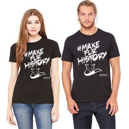 FTLA Apparel ~ For The Love of Animals Apparel:  Unisex - Make Fur History FTLA Apparel Unisex Jersey Black Tee | #MakeFurHistory XS-4XL
