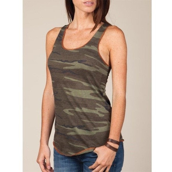 FTLA Apparel - #MakeFurHistory FTLA Apparel Eco Jersey Camo Racerback Tank Top-Tank Top-For The Love of Animals Apparel