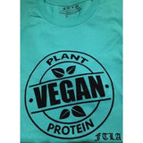 FTLA Apparel Men's/Unisex Teal Jersey Short Sleeve Tee - Vegan Plant Protein-Unisex T-Shirt-FTLA Apparel-For The Love of Animals Apparel