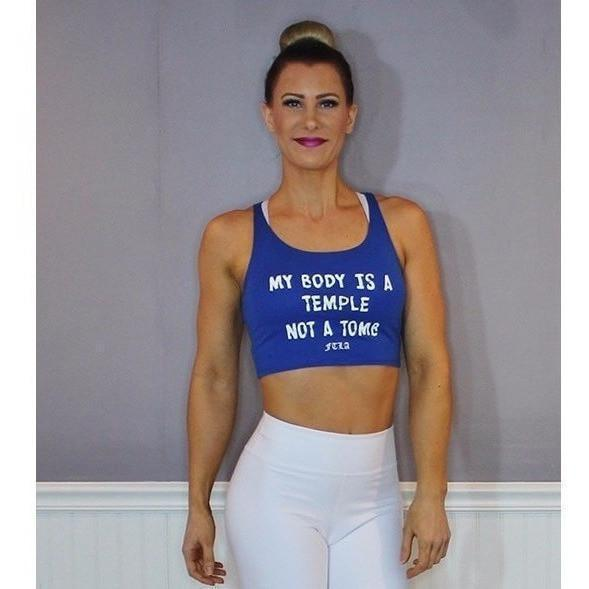 FTLA Apparel ~ For The Love of Animals Apparel:  Crop Top - My Body Is A Temple Not A Tomb Cotton Crop Top