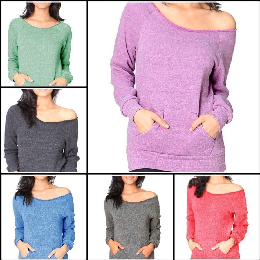 FTLA Apparel - New FTLA Apparel Off the Shoulder Sweatshirt Eco Friendly Made in the USA - Off The Shoulder Sweatshirt