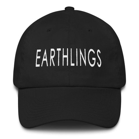FTLA Apparel ~ For The Love of Animals Apparel:  Hats - Official EARTHLINGS 6 Panel Low Profile Embroidered Baseball Cap