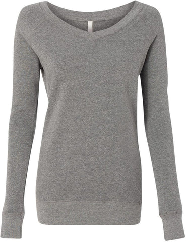 FTLA Apparel ~ For The Love of Animals Apparel:  Eco Fleece Sweatshirt - READY TO SHIP SALE SIZE LG GREY V-Neck Fleece Sweatshirt's - BLANK