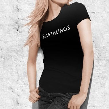 FTLA Apparel - The Official EARTHLINGS T-Shirt in Black (UNISEX) - MAKE THE CONNECTION-Unisex T-Shirt-For The Love of Animals Apparel