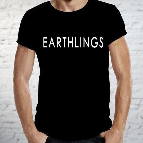 FTLA Apparel ~ For The Love of Animals Apparel:  Unisex T-Shirt - The Official EARTHLINGS T-Shirt in Black (UNISEX) - MAKE THE CONNECTION