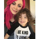 FTLA Apparel ~ For The Love of Animals Apparel:  Toddler Baseball Tee - Toddlers/Kids Unisex Poly-Cotton 3/4 Sleeve Raglan Shirt - Be Kind To Animals