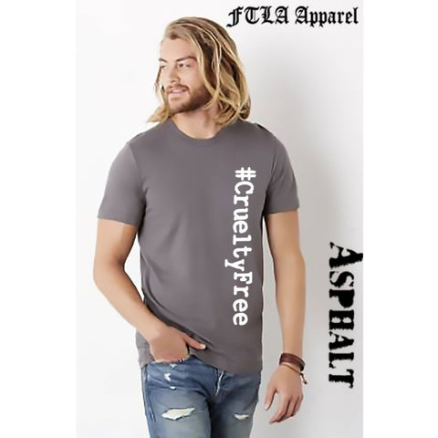 FTLA Apparel Unisex Jersey Short Sleeve Tee #CrueltyFree-Unisex T-Shirt-FTLA Apparel-XS-Ashphalt-For The Love of Animals Apparel
