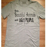 FTLA Apparel Unisex Jersey Short Sleeve Tee - Only Beautiful Animals and Ugly People Wear fur!-Unisex T-Shirt-FTLA Apparel-XS-Athletic Grey-For The Love of Animals Apparel