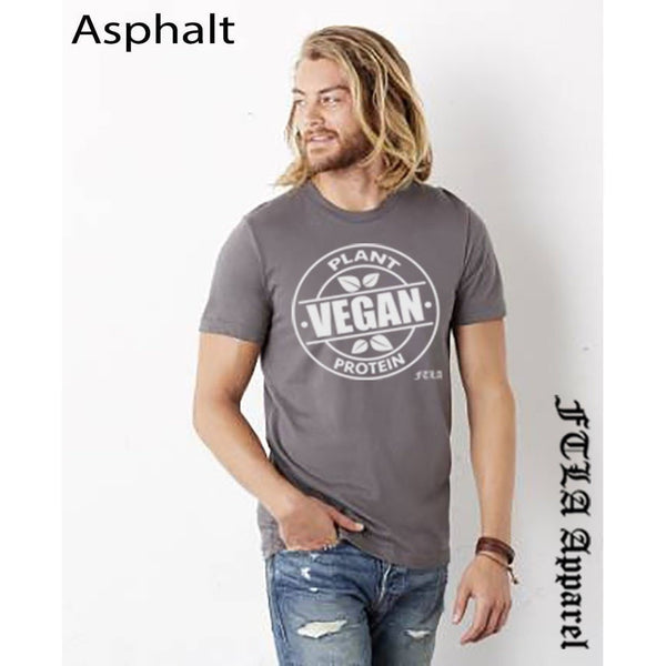 FTLA Apparel Unisex Jersey Short Sleeve Tee Vegan Plant Protein-Unisex T-Shirt-FTLA Apparel-XS-Ashphalt-For The Love of Animals Apparel