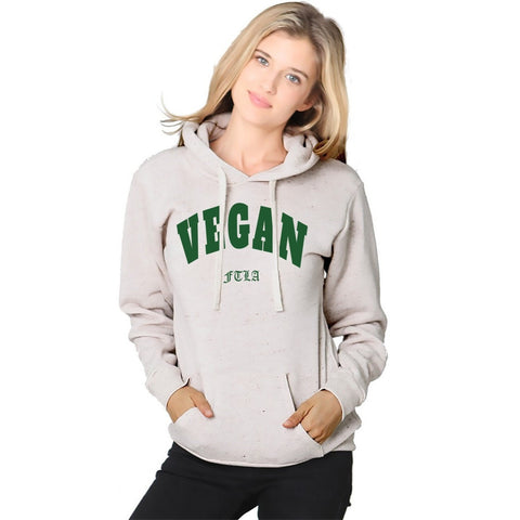 FTLA Apparel ~ For The Love of Animals Apparel:  Unisex Sweatshirts - VEGAN Unisex Eco Oatmeal Fleece Hooded Pullover – Vegan FTLA | For The Love of Animals XS-2XL