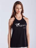 FTLA Apparel Warrior Goddess Heather Charcoal Raw Edge Vegan Leaf Tank Top-Tank Top-FTLA Apparel-Small-Black-For The Love of Animals Apparel