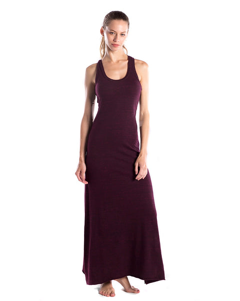 FTLA Apparel ~ For The Love of Animals Apparel:  Dresses - Cranberry Triblend Racerback Maxi Dress
