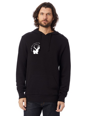 Little Bear Sanctuary Unisex Eco True Black Fleece Hooded Pullover