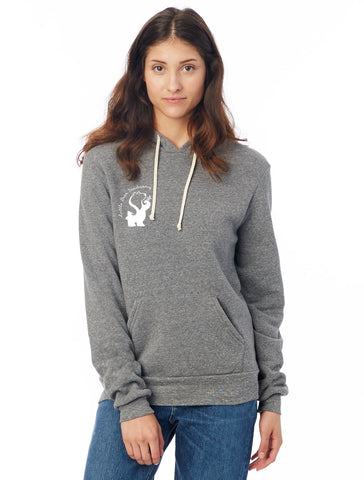 FTLA Apparel ~ For The Love of Animals Apparel:  Unisex Sweatshirts - Little Bear Sanctuary Unisex Eco Grey Fleece Hooded Pullover