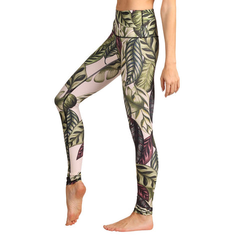 FTLA Apparel ~ For The Love of Animals Apparel:  Leggings - LEAF IT TO ME YOGA LEGGINGS