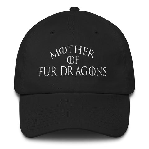 FTLA Apparel ~ For The Love of Animals Apparel:  Hats - Mother of Fur Dragons™️ by FTLA Apparel  - Embroidered Cotton Cap