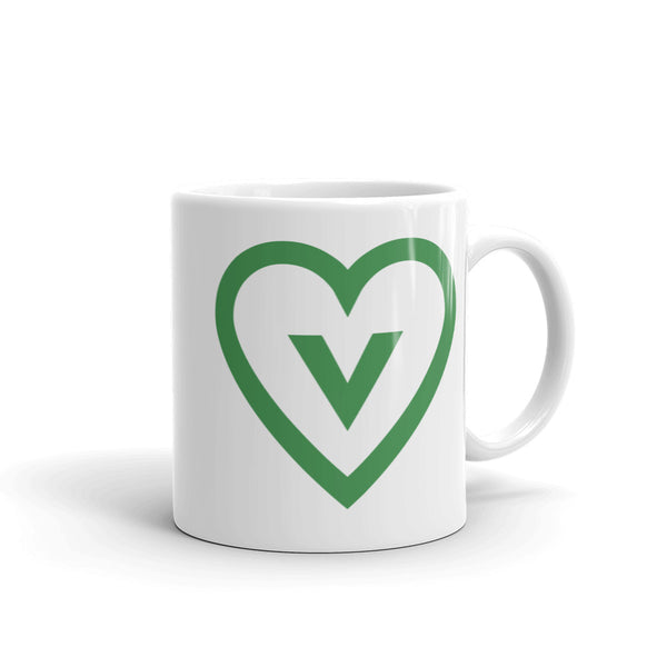 FTLA Apparel ~ For The Love of Animals Apparel:  Mug - Vegan Heart Mug