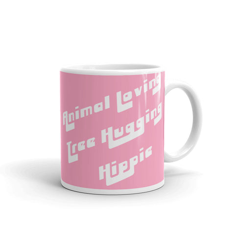 FTLA Apparel ~ For The Love of Animals Apparel:  Mug - Animal Loving Tree Hugging Hippie Mug