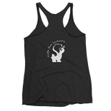 FTLA Apparel ~ For The Love of Animals Apparel:  Tank Top - Little Bear Sanctuary - Black Tri-blend Racerback Tank Top - Logo on Back XS-2XL
