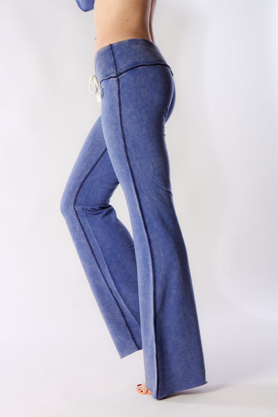 "FTLA Apparel ~ For The Love of Animals Apparel:  Yoga Pants - 33"" Bamboo Estelle Fitted Flare"