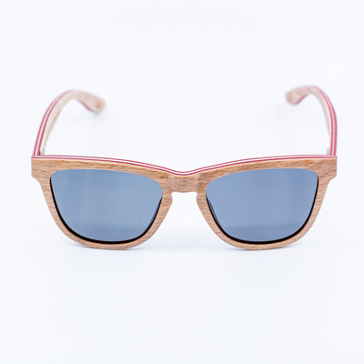 woodgrain wayfarer recycled skateboard wood sunglasses