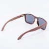 brown eco friendly recycled wood wide sunglasses