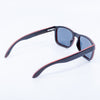 black eco friendly recycled wood wide sunglasses
