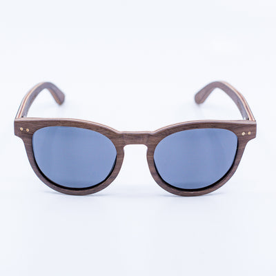 brown retro recycled wood sunglasses