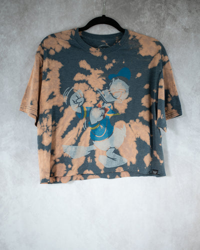 Fighting Duck grey bleach dye crop top
