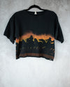 Tombstone Arizona black crop top