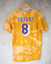 Los Angeles gold yellow bleach dyed tee