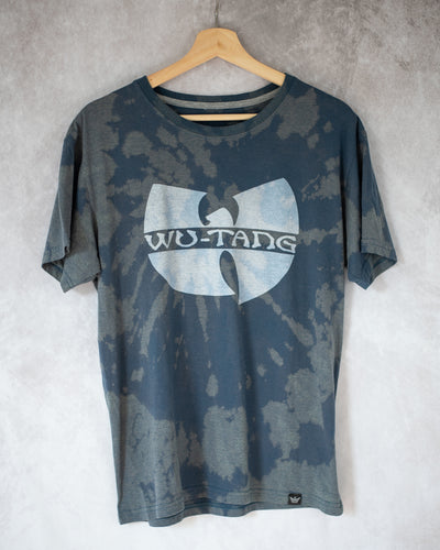 slate blue bleach dye tee