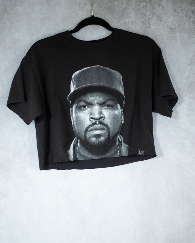 Cube hip hop black crop top