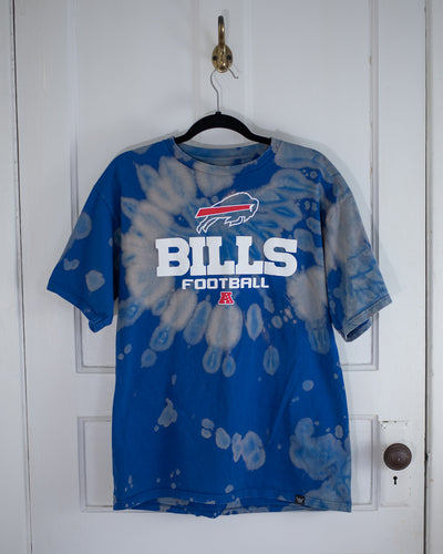 Buffalo Mafia blue bleach dye tee