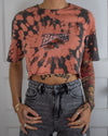 Buffalo Bandits grey bleach dye crop top