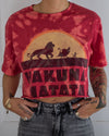 Hakuna Matata red bleach dye crop top