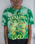 Ninja Turtles green bleach dyed crop top
