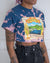 Sierra Nevada Summerfest blue bleach crop top