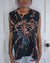 Paradise City black bleach dye tank top