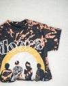 Doors black bleach dye crop tee
